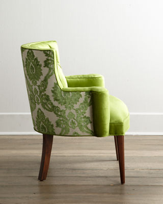 Damask Chair Bright Tiffany Damask Chair