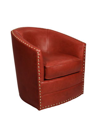 Red Leather Swivel Chair Bryn St Clair Red Leather Swivel Chair