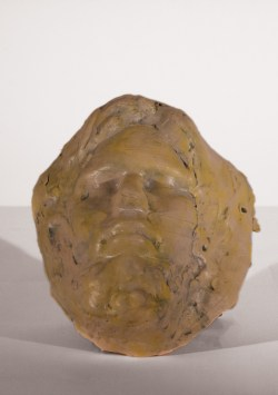 Face: Blue 2   Slip Cast Stoneware Underglaze wash Cone 6
