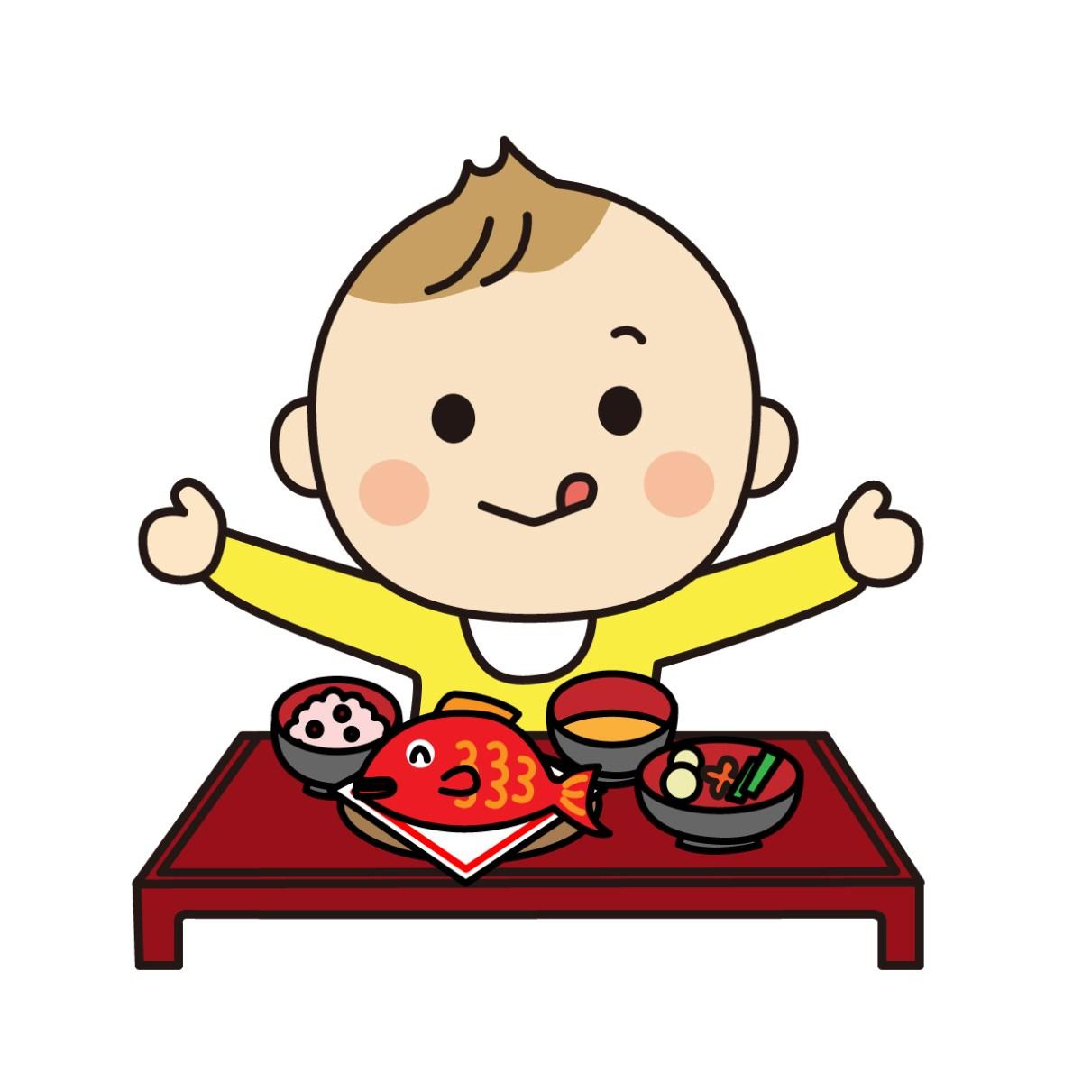 お食い初めの赤ちゃんの服装を選ぶポイント百日祝いにおすすめの衣装