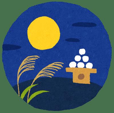 十五夜2018年のお月見はいつ?中秋の名月は満月とは限らない?