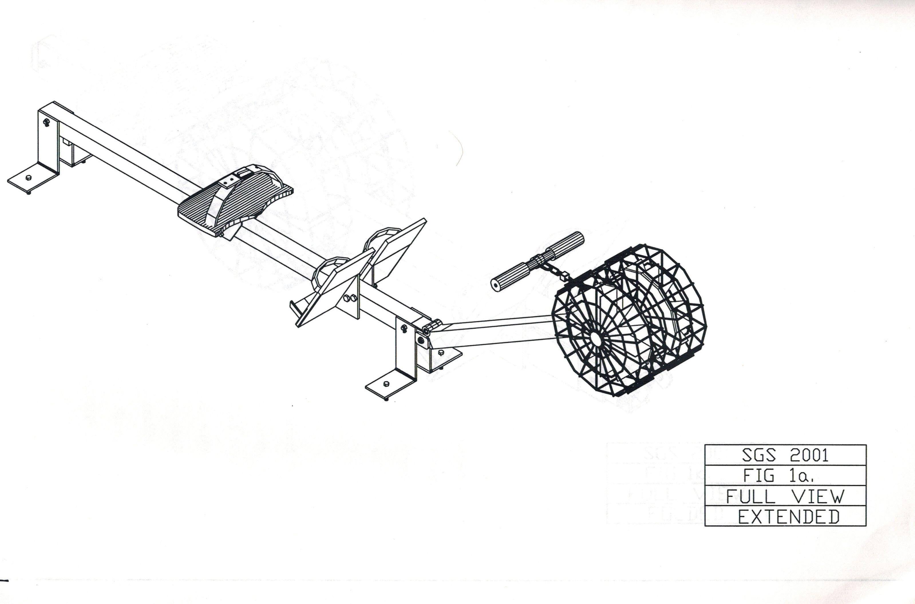 Zero Gravity Rowing Machine