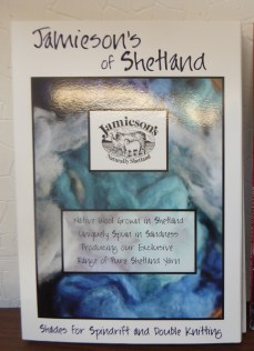 Jameison's of Shetland's offers many shades of wool grown and spun locally.