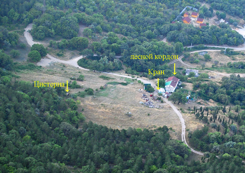Вид на место бывшей экономии Ласпи с Аждер-Каната
