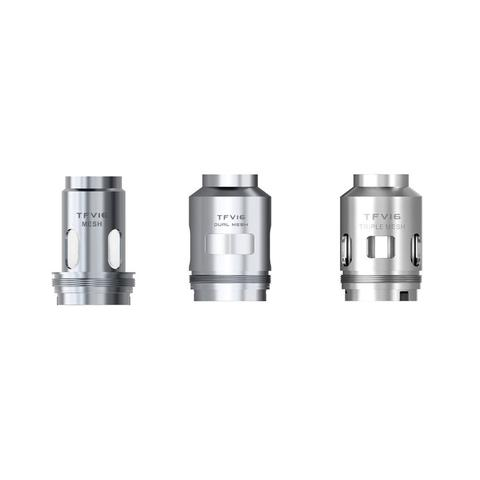 The SMOK TFV16 Replacement Coil has three Coil types for you to choose. They are Mesh Coil 0.17ohm, Dual Mesh Coil 0.12ohm, Triple Mesh Coil 0.15ohm. The TFV16 Replacement Coil is designed for the powerful TFV16 tanks. As you know, ceramic is a material with great stability and strong high-temperature resistance. It helps to keep the original flavor when be a king in the massive cloud. Mesh Coil 0.17ohm(BEST: 120W ) Dual Mesh Coil 0.12ohm(BEST: 120W ) Triple Mesh Coil 0.15ohm(BEST: 90W ) Includes: 3x SMOK TFV16 replacement coils