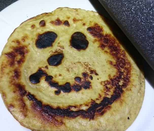 Det skulle berre mangle at primusen laga smile-pannekake til meg.