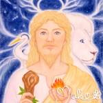 「モーセ」霊性の角と白い獅子