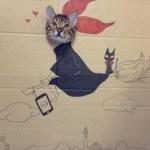 「段ボール×猫=コスプレ」の破壊力の強さが異常
