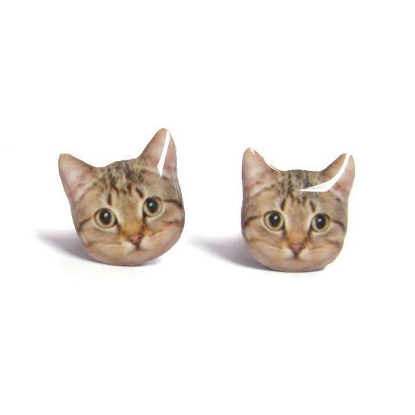 130908catpiercedearring 600x600 - 聞かれる前に猫好きだと表明できる、キュートな猫フェイスピアス