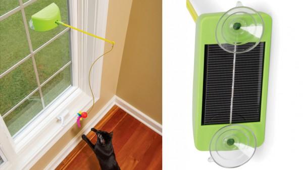 131020ku bigpic 600x337 - 太陽電池で動き続ける、猫おもちゃ「The Solar Powered Cat Tantalizer」(動画)