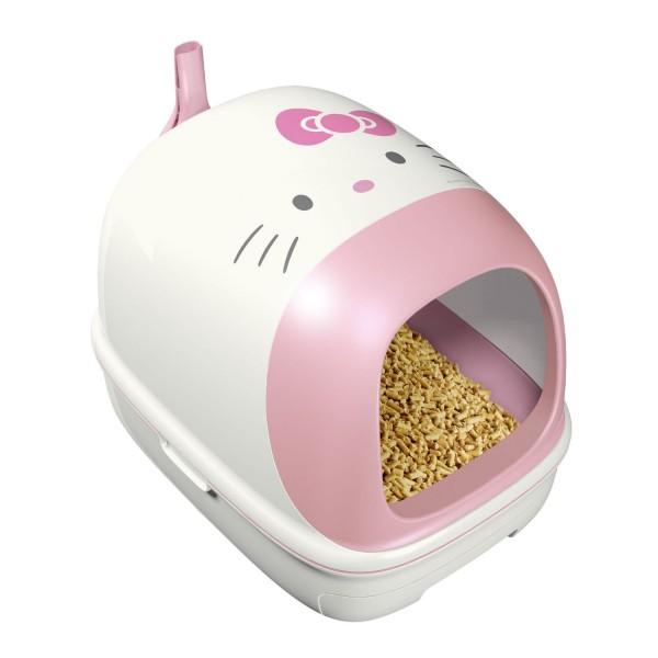 131026kitty02 600x600 - 仕事を選ばないことで知られるキティさん、今度は猫トイレになる