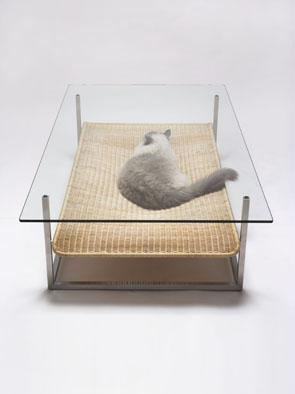 131103hammock02 - 猫用ハンモック付きの、コーヒーテーブル