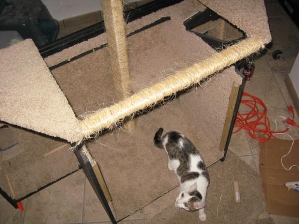 140104diycathouse02 600x450 - 60インチのテレビ、猫ハウスに生まれ変わる