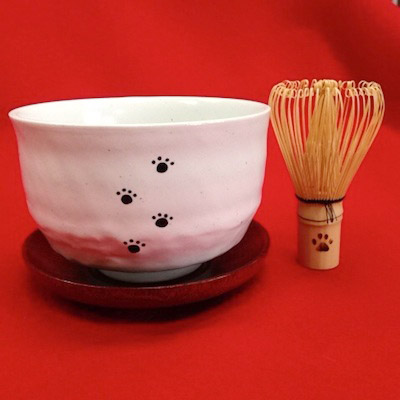 140210seihoudou01 - 猫をモチーフにした茶道具で、お茶を点てたり喫したり
