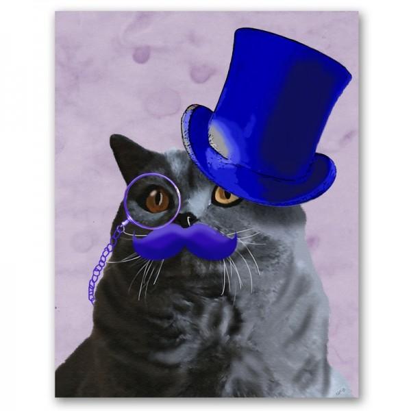 140219catking02 600x600 - 戴冠した猫の王様を描いた、かわいい猫ポスター