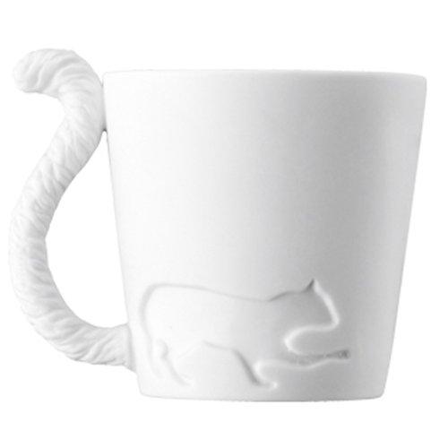 140322magtail cat - 忍び足の猫、白磁のマグカップ化。そしてシッポが把手に