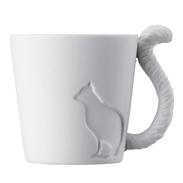 140322magtail cat02 600x600 - 忍び足の猫、白磁のマグカップ化。そしてシッポが把手に