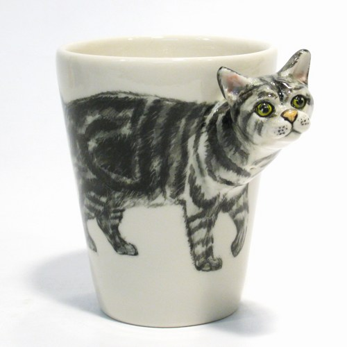 140402catmug02 - 三次元に飛び出る猫、マグからひょっこり顔を出す