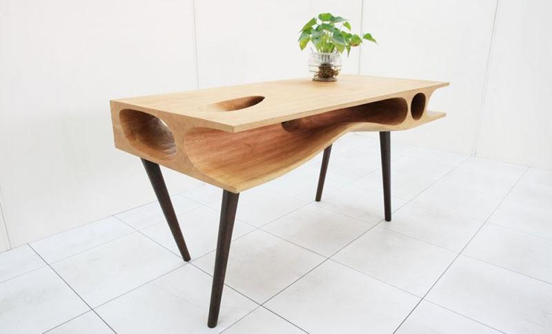 140422cattable02 - 猫と共に暮らすダイニングテーブルを、デザインするとこうなる