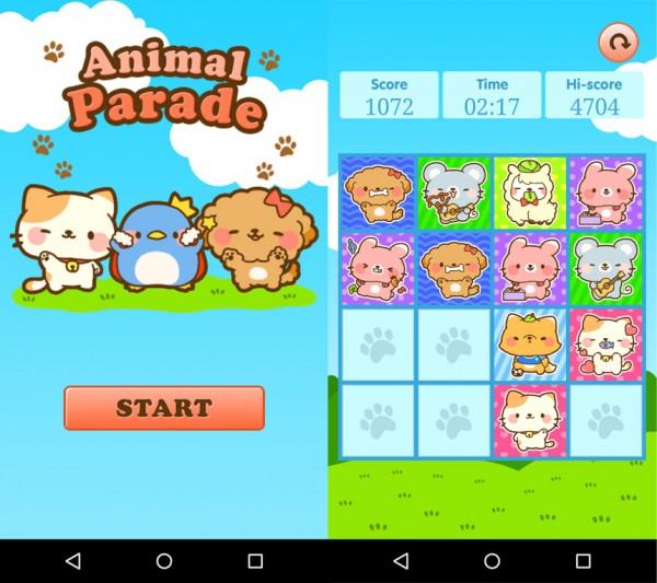 150127animalparade02 600x533 - 猫アイコンのパズルゲームアプリ、シンプルルールで時間を奪う