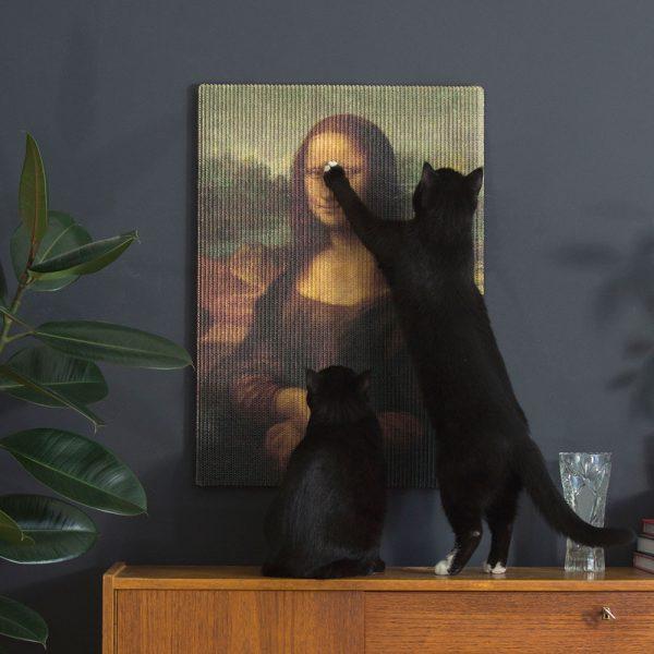 160719MonnaLisa01 600x600 - いつもの遊びが閑雅な遊戯に、名画を模した猫の爪とぎ