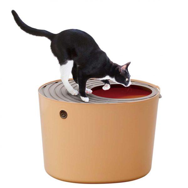 160807cattoilet 600x600 - 上から入る猫トイレ、システムトイレ並のお手ごろ価格帯に