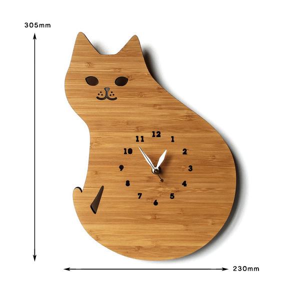 170314catclock02 - 猫の背中のゆるやかな、丸きカーブを眺める時計