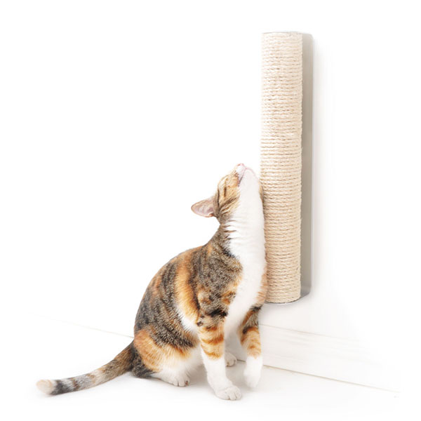 170318SisalScratchingPost02 - 壁付けタイプの猫の爪とぎ、立ちとぎ派にもスリスリ派にも