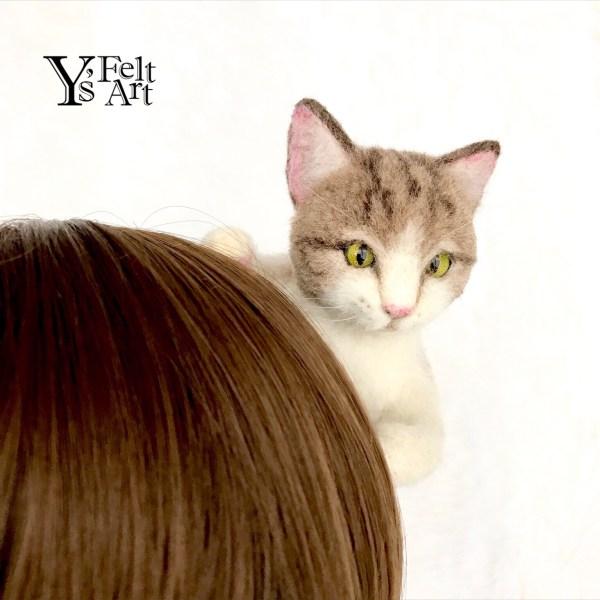 180918catband01 600x600 - 秋空の下で一緒にお出かけ気分、リアルな質感の猫のカチューシャ