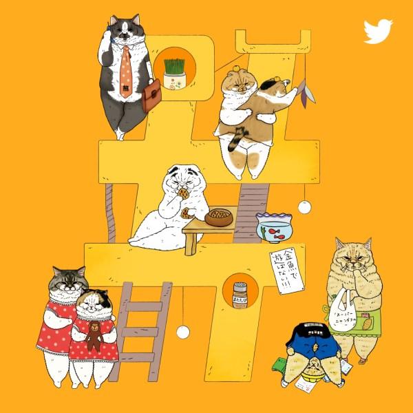 190216cat motif 600x600 - 平成最後の猫の日記念に猫絵文字も、Twitter公式で猫キャンペーン