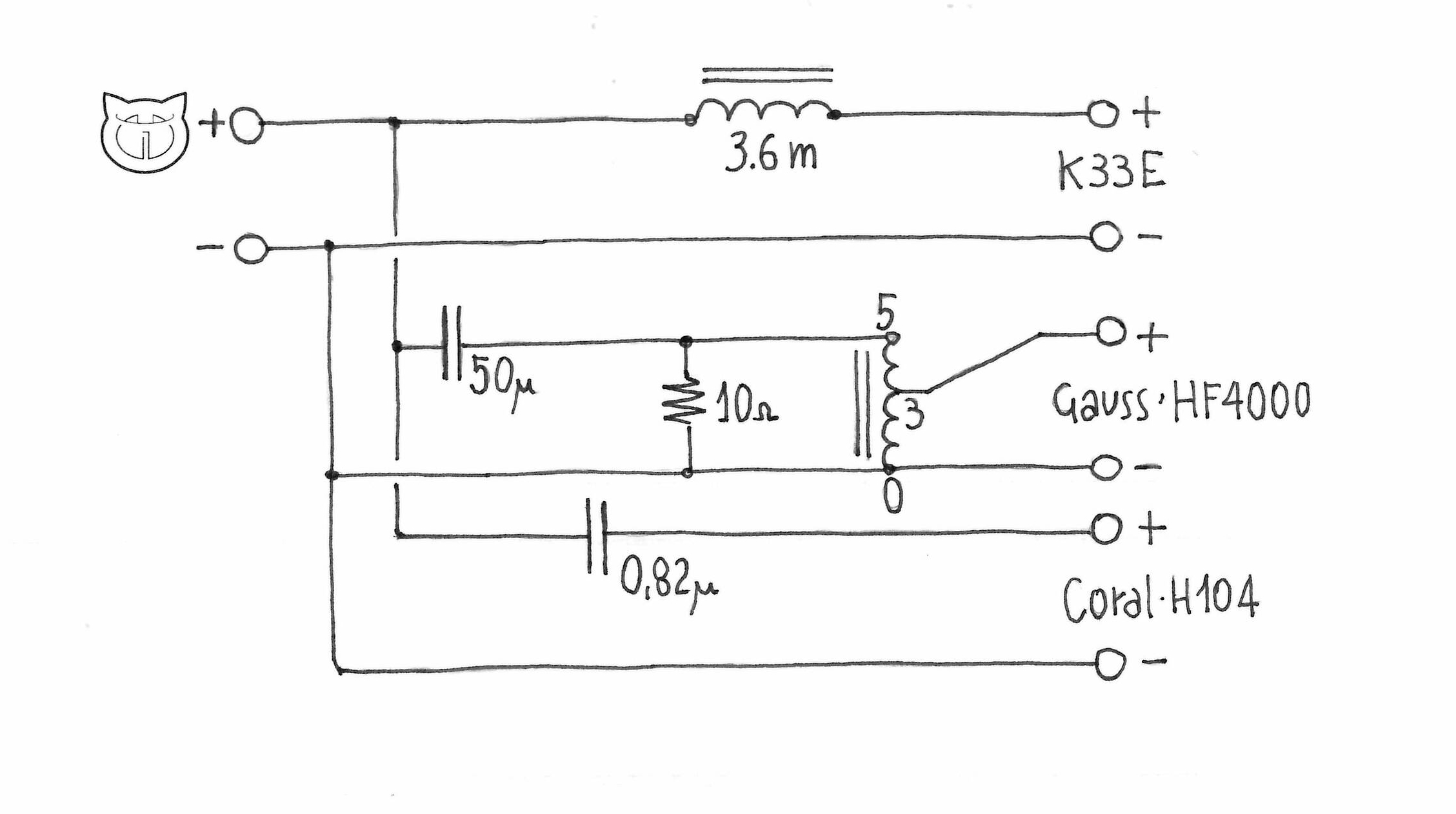 car crossover wiring diagram clifford alarm 220hz at speaker crossovers circuit diagrams
