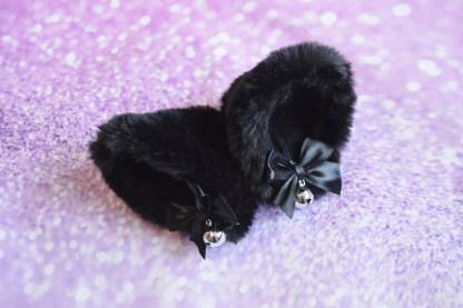 Black Kitten play clip on cat ears