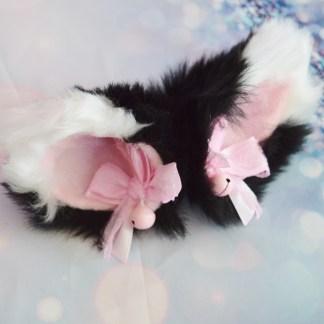 Black white ears