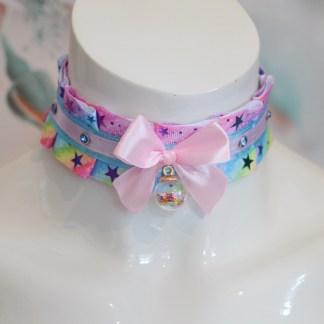 Rainbow Mermaid buckle collar