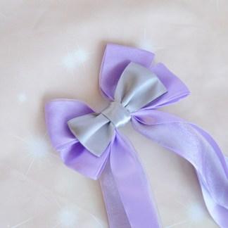 Hair bow - pastel violet