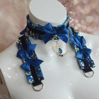 Gothic collar and cuffs - Night Crystal