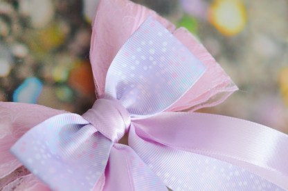 pastel lilac purple and pinkbow