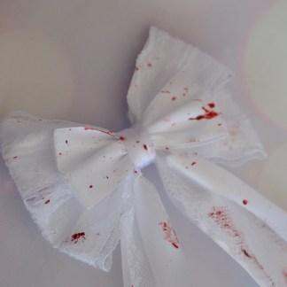 Blood splatter hairbow