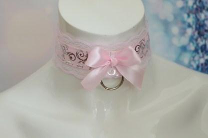 Pink Swirl DDLG Collar