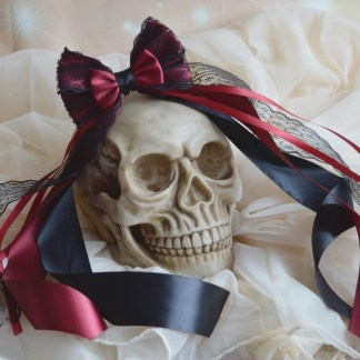 Black and Red gothic hairbow