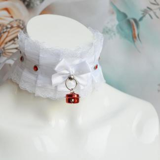 Ddlg day collar - Snow White Kittty