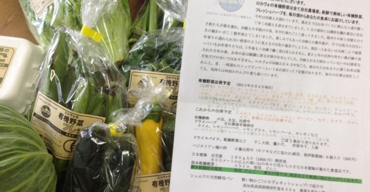 ロカヴォの有機野菜とお手紙