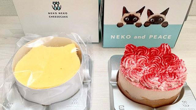 パステルでもふねこチーズケーキ・ねこねこWチーズケーキ(いちご)を購入(ヴィアHDの株主優待券利用)