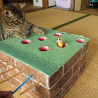 ねこが虜の「猫もぐらたたき」をテーブルゲームっぽく作ってみた!