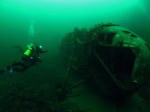 The wessex had only flown for 650 hours before it was submerged in Stoney Cove. it was in immaculate condition.