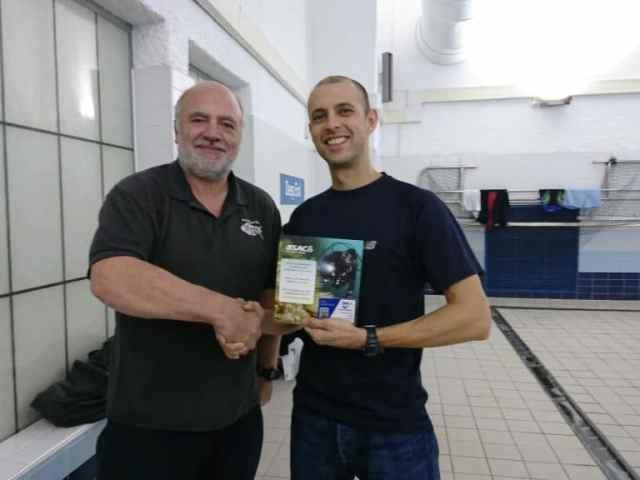 Ben gains Ocean Diver Qualification.