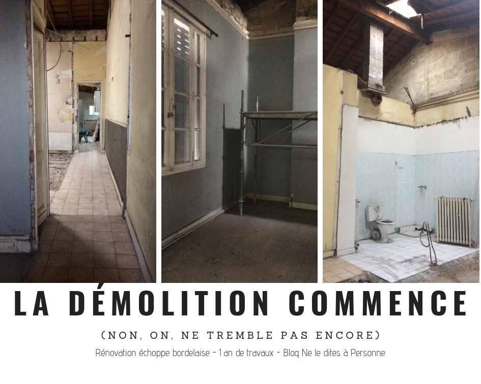 La Demolition - Renovation surelevation maison echoppe bordelaise - 1 an de travaux - Blog Bordeaux Ne le dites a Personne #Rénovation #rénovationmaison #echoppe #echoppebordeaux #echoppe bordelaise #rénovationechoppe #surelevationechoppe #bordeaux #blogbordeaux #neleditesapersonne