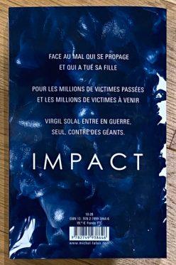 Impact Olivier Norek Michel Lafon 4ème de couverture