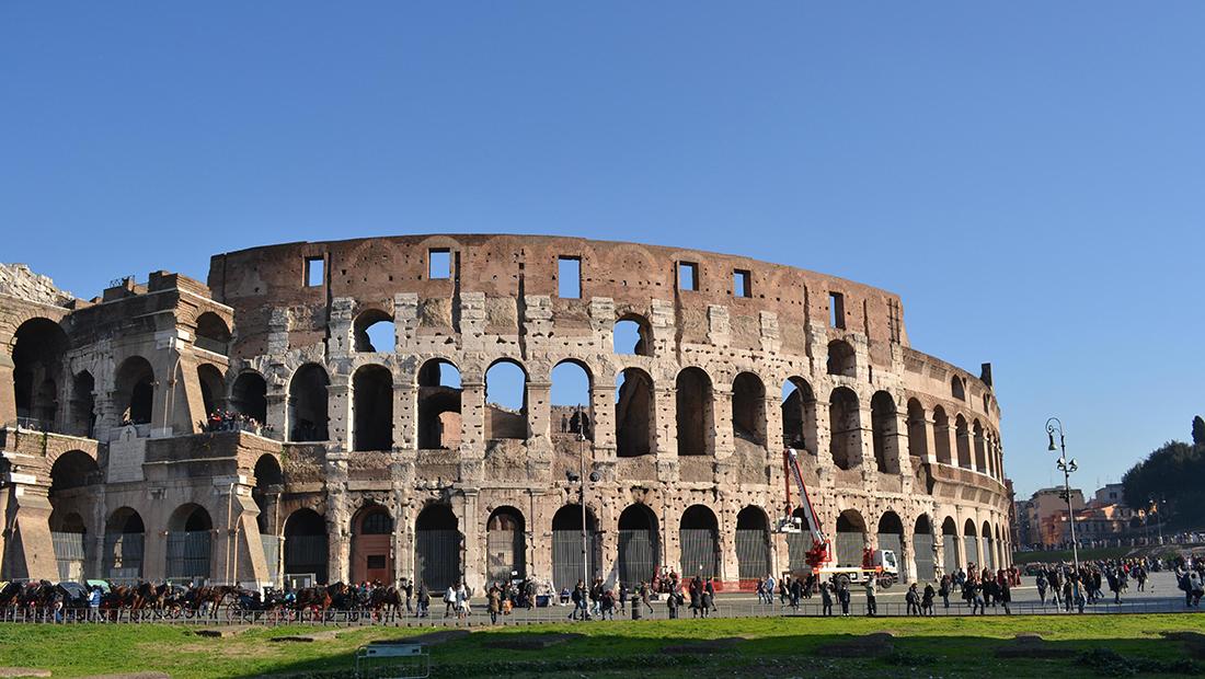 Foto vom Kolosseum in Rom.