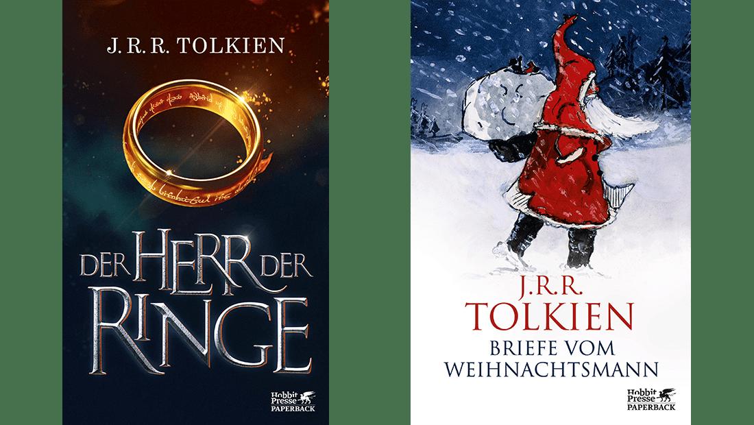 """Coverbild vom Buch """"Der Herr der Ringe"""" und vom Buch """"Die Briefe vom Weihnachtsmann"""""""